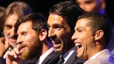 Buffon no ocultó su idolatría por Cristiano Ronaldo antes de la Champions