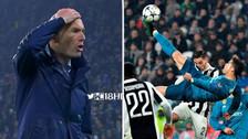 No lo creía: la reacción de Zinedine Zidane tras el golazo de Cristiano Ronaldo
