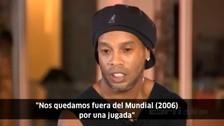 Ronaldinho culpó a Roberto Carlos de la eliminación de Brasil en el Mundial del 2006