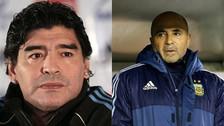 Con tres frases: Diego Maradona arremetió contra Jorge Sampaoli