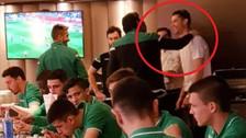 Cristiano Ronaldo realizó visita sorpresa a la concentración de Sporting de Lisboa