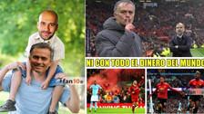 Guardiola es víctima de los memes tras el triunfo del United a City