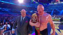 WrestleMania: Así celebró Brock Lesnar tras ganar el título Universal WWE