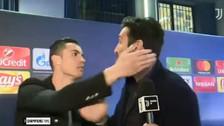 El emocionante abrazo y beso de despedida entre Cristiano Ronaldo y Buffon
