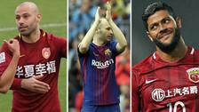Adiós Iniesta: las estrellas que se fueron a jugar al fútbol chino