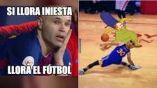 Iniesta es protagonista de los memes tras el triunfo de Barcelona