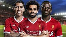 La canción de los hinchas de Liverpool para Salah, Firmino y Mané