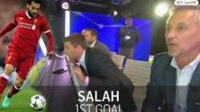 Pura emoción: las reacciones de Steven Gerrard tras los golazos de Salah