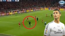 Cristiano Ronaldo y su blooper: disparó al arco y el balón acabó en el lateral