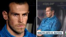 Las reacciones de Gareth Bale tras quedarse en el banquillo de suplentes