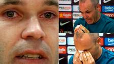 10 fotos de la emotiva despedida de Andrés Iniesta de Barcelona