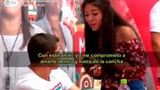 Fanática le pidió matrimonio a Aldo Corzo en firma de autógrafos