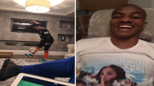La novia de André Carrillo sorprendió con su habilidad para hacer 'pataditas'