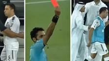 La furiosa reacción de Xavi tras ser expulsado en la Copa de Qatar