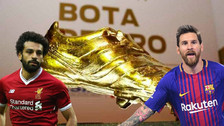 Messi anotó un triplete y superó a Salah en la lucha por la Bota de Oro