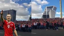 Invadieron Madrid: el gran  cántico de los hinchas del Bayern Munich