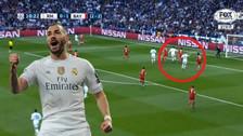 Benzema rompió su sequía goleadora con gran cabezazo ante Bayern