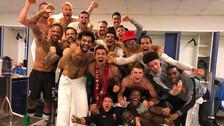 La eufórica celebración de Liverpool en el vestuario tras el pase a la final