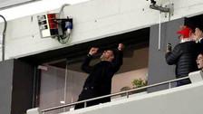La eufórica celebración de Simeone tras la clasificación del Atlético