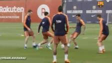 Coutinho le hizo una 'huacha' a Luis Suárez previo al duelo ante Real Madrid