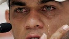 Dani Alves lloró y está