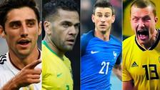Dani Alves y los jugadores que no participarán del Mundial por lesión