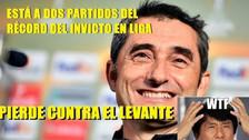 Fotos | Barcelona perdió el invicto ante Levante y no se salvó de los memes
