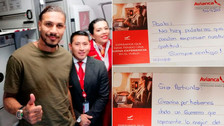 Paolo Guerrero fue sorprendido por tripulación de avión antes de llegar al Perú