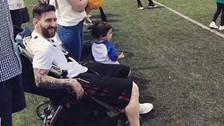 Lionel Messi usó el coche de su hijo y se convirtió en viral