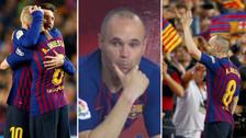 Las mejores imágenes de la emotiva despedida de Andrés Iniesta