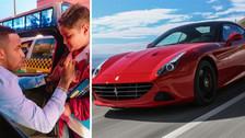 Jefferson Farfán detuvo su Ferrari en plena vía para recibir a niños hinchas
