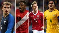 FIFA confirmó las camisetas oficiales que usarán Perú y sus rivales en el Mundial