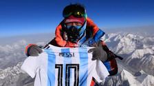 Messi agradeció a fanático que llevó su camiseta a cima del Everest