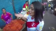 Actriz peruana realiza colecta en las calles para ir a Rusia 2018