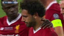 Salah rompió en llanto tras lesionarse en final de la Champions League