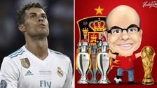 MisterChip criticó a Cristiano Ronaldo por decir que se iría del Real Madrid
