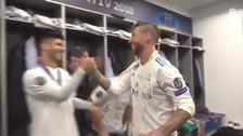 El eufórico festejo de Real Madrid en el vestuario tras el título de la Champions