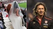 La cábala de Gareca: novia causa sensación en la práctica de la Selección Peruana