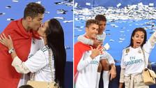Rey de la Champions: el amoroso festejo de Cristiano Ronaldo y su novia