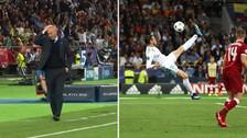 La reacción de Zinedine Zidane tras el golazo de chalaca de Bale