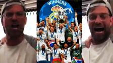 Klopp dedicó grosera canción al Real Madrid por ganar la Champions League