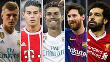 Puras estrellas: la mejor plantilla de la Champions League 2017/18