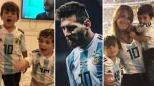 El tierno video de los hijos de Lionel Messi alentando a la Selección de Argentina
