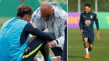 Susto en Brasil: Neymar sufrió dolencias en su tobillo operado