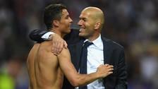 El emotivo mensaje de Cristiano Ronaldo por la salida de Zinedine Zidane