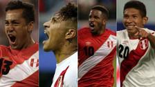 Paolo Guerrero y el once de la Selección Peruana para el Mundial