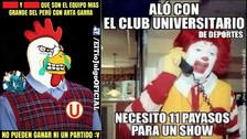 Memes se burlan de Universitario y su empate ante Cantolao