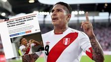 L'Equipe destacó el regreso de Paolo Guerrero a la Selección Peruana