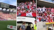 ¡Somos locales! Hinchas peruanos llenaron el estadio en el amistoso ante Arabia
