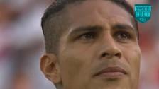 La emoción de Paolo Guerrero al cantar el himno nacional